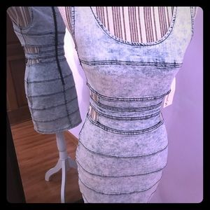 NWT Stone washed denim dress